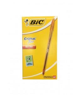 Boite de 60 stylos bille BIC CRISTAL Rouge