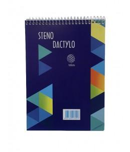 Bloc Note Ligné Sténo 14.5x20.5cm - Atlas