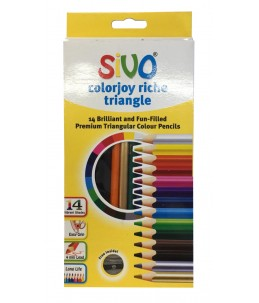 14 crayons de couleurs Brillant- SIVO