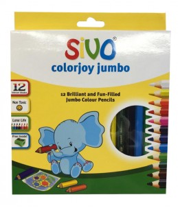 12 Crayons de couleurs - SIVO