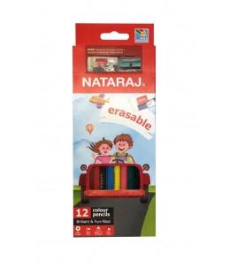 12 Crayons de couleurs - NATARAJ