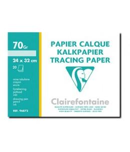Clairefontaine Fine Arts - Papier calque - A4 Plus - 20 feuilles 70 g/m²