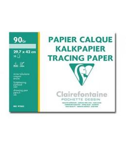 Clairefontaine fine arts - Pochette papier calque - 90 Gr - A3 - 10 feuilles