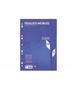 Calligraphe 7000 - Feuillets mobiles/200 pages - A4 - 100 feuilles - blanc- petits carreaux - perforé