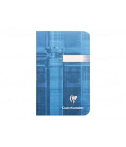 Clairefontaine - Carnet piqué - 9 x 14 cm - 96 pages - Petits carreaux - couvertures aux couleurs assorties