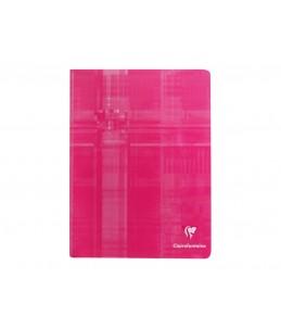 Clairefontaine - Cahier piqué - 17 x 22 cm - 96 pages - Grands carreaux - disponible dans différentes couleurs