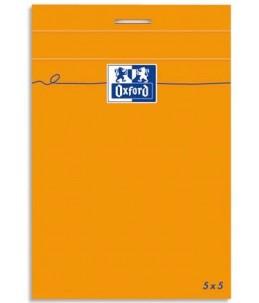 Oxford Bloc Orange - Bloc - A7 - 160 pages - Petits carreaux - couverture orange