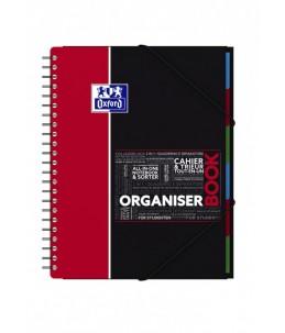 Oxford Student Organiserbook A4+ - Cahier - 160 pages - Petits carreaux - disponible dans différentes couleurs