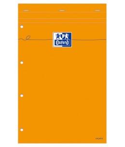 Oxford Bloc Orange A4+ - Bloc - 21 x 31,5 cm - 160 pages - Grands carreaux - couverture orange