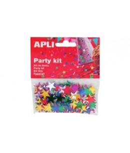 Apli Party - confettis - 14 gr - étoiles
