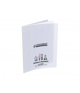 CONQUERANT Classique - Cahier polypro Travaux Pratiques - 17 x 22 cm - 64 pages - uni, Grands carreaux