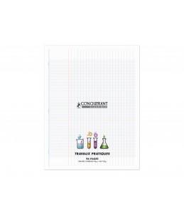 CONQUERANT Classique -  Cahier polypro Travaux Pratiques  - 24 x 32 cm - 96 pages - uni, Grands carreaux