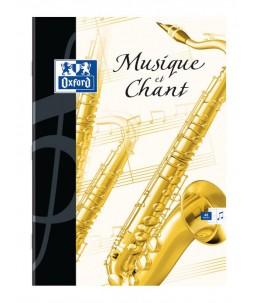 OXFORD - A5+ - Cahier de musique - 17 x 22 cm - 48 pages - Grands carreaux
