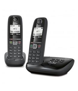 Gigaset AS470A - Téléphone sans fil DUO Noir (Avec Répondeur)