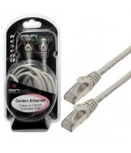 MCL Samar - Câble de réseau - RJ-45 (M) pour RJ-45 (M) - paire torsadée écrantée (F UTP) - CAT 6 - 10 m - gris
