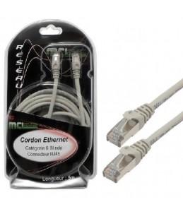 MCL Samar - Câble de réseau - RJ-45 (M) pour RJ-45 (M) - paire torsadée écrantée (F UTP) - CAT 6 - 5 m - gris