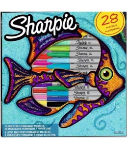 Sharpie - Coffret de 28 marqueurs - permanent - pour métal, plastique