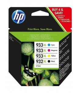 HP 932XL 933XL - Pack de 4 - noir, cyan, magenta, jaune - cartouche d'encre originale