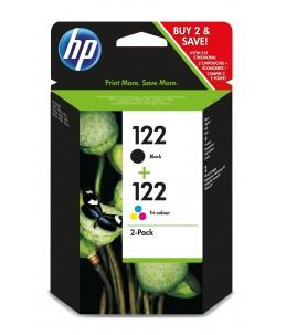 Pack de deux cartouches 122 Black et Couleur - HP