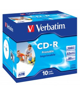Verbatim AZO Crystal - CD-R x 10 - 700 Mo - support de stockage