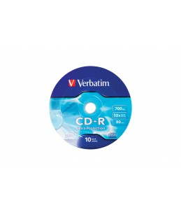 Pack de 10 CD-R 700MB - Verbatim