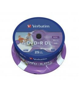 Pack de 25 DVD+R DL  8.5 GB - Verbatim