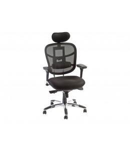 Fauteuil de bureau ergonomique TECKNET - Appuie-tête - Accoudoirs réglables - Noir