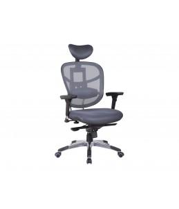 Fauteuil de bureau ergonomique TECKNET - Appuie-tête - Accoudoirs réglables - Gris