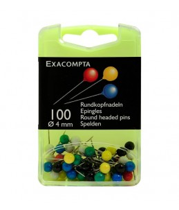 BTE 100 EPING. SPHERIQUES 4MM ASS. - Exacompta